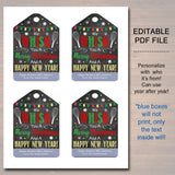 Christmas Gift Tags, We Whisk You a Merry Christmas, Holiday Favor, Teacher, staff Volunteer White Elephant, Xmas Kitchen Bakery Treat Tag