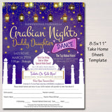 Arabian Nights Daddy Daughter Dance Set, Flyer Invitation Ticket, Moroccan Bollywood theme, India School pto pta, Church, INSTANT DOWNLOAD