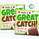 Football Valentines, Boy Sports Ball Valentine Card Gift Classroom Party School, Teacher Staff Valentine Tag DIY Printable Editable Template