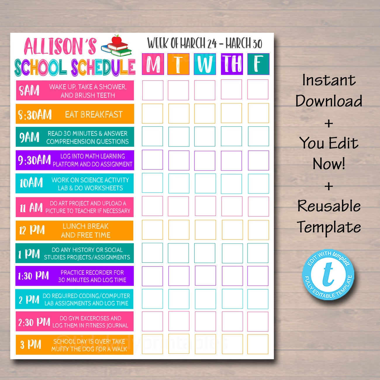 Daily Homeschool Schedule Template from cdn.shopify.com