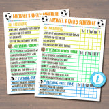 Home School Schedule, Daily Weekly Subject Checklist, Homework Organizer, Kids Student Calendar Planner Printable, Editable Template