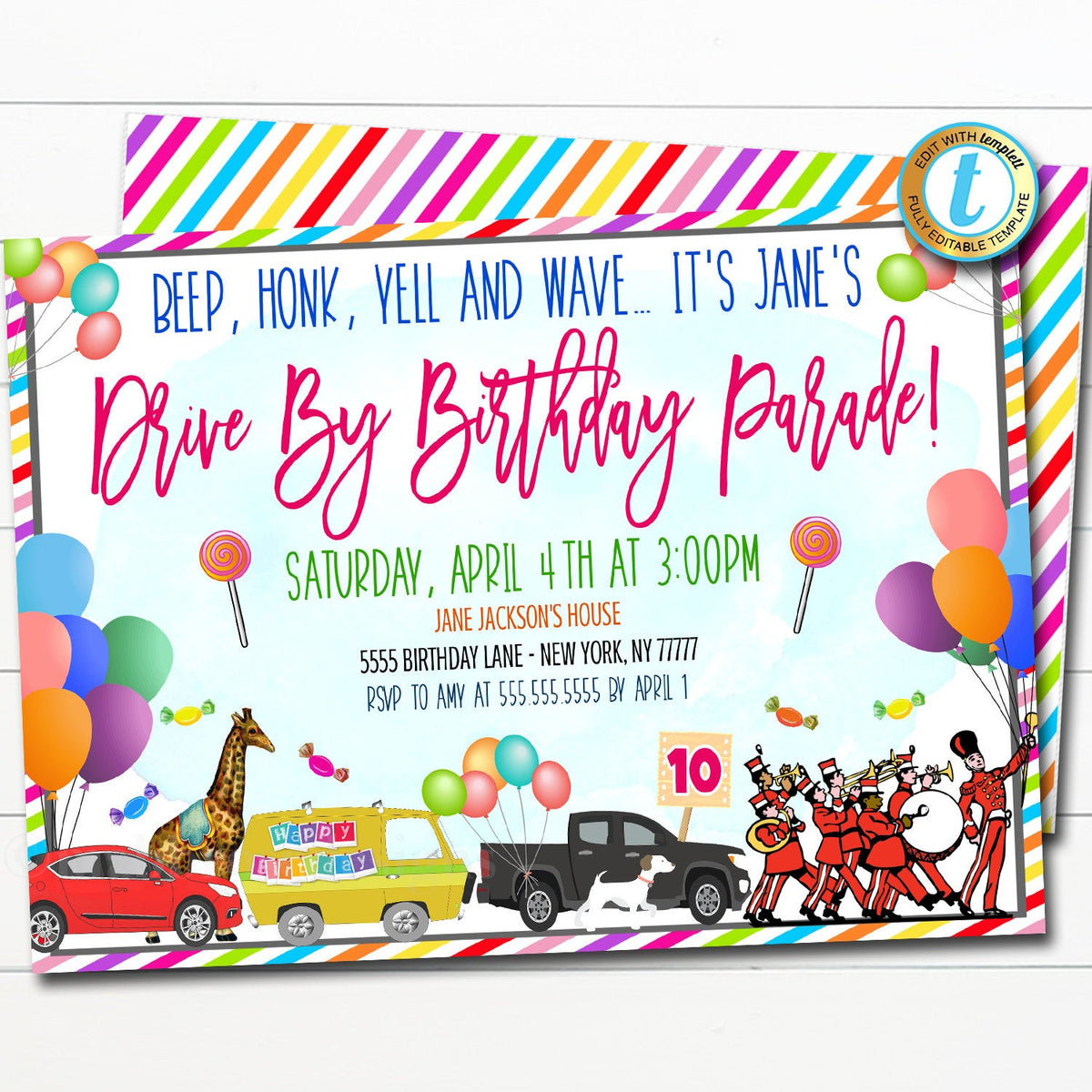 Drive By Baby Shower Invitation Wording