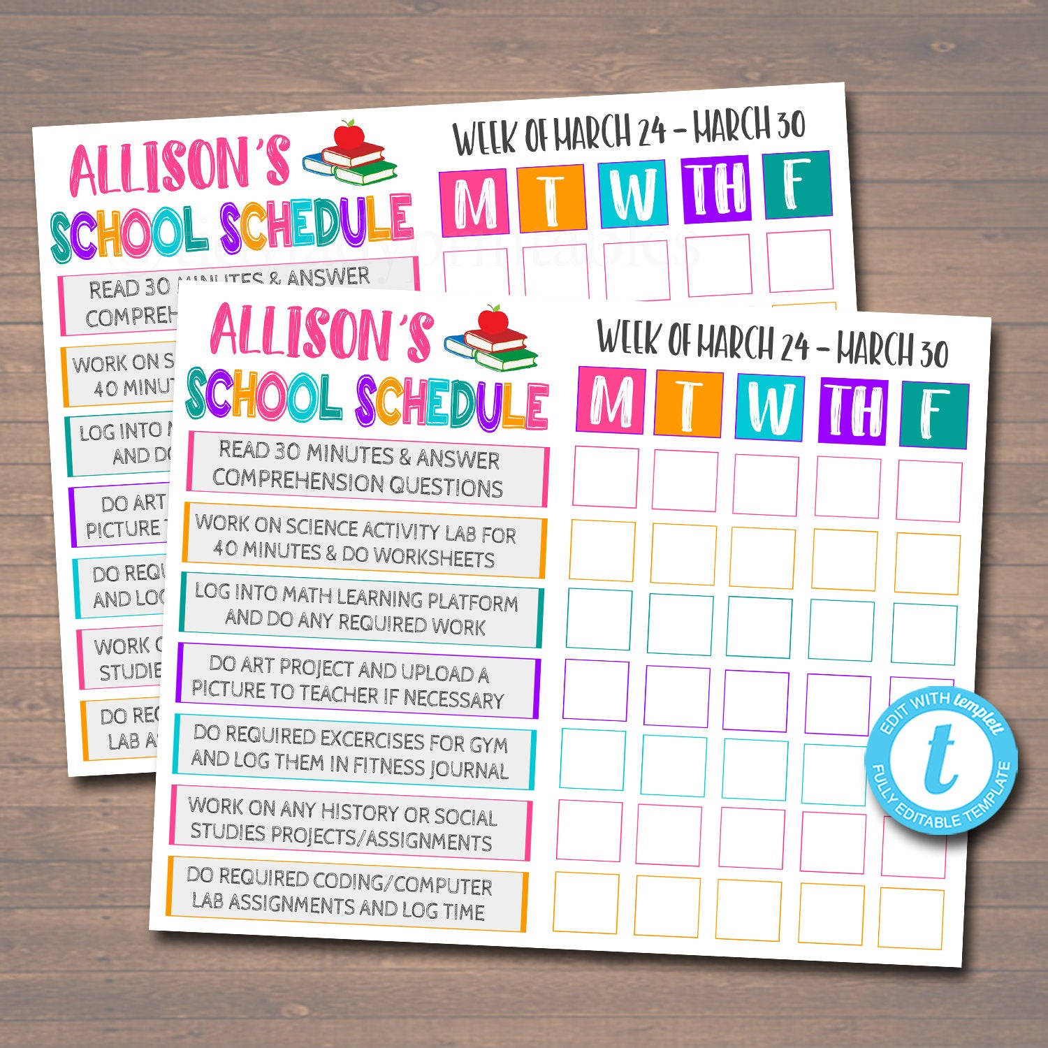 It is an image of Printable Homeschool Schedule for 7 year old