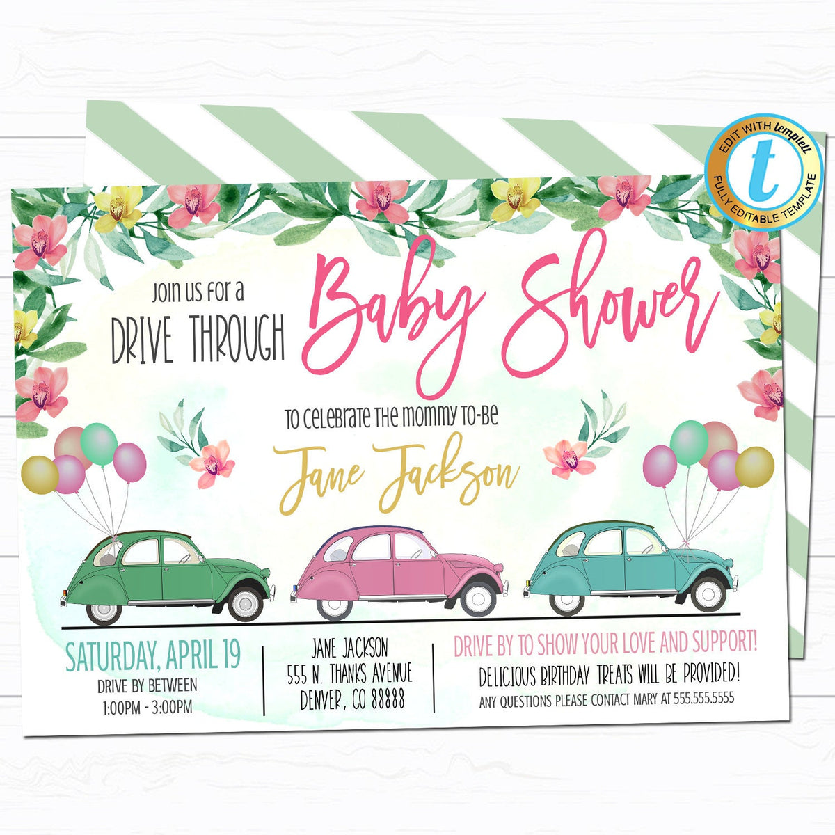 Drive By Baby Shower Parade Ideas