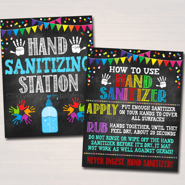 Hand Sanitizer Posters, Health Safety Prevention Signs Teacher School Classroom, Wash Your Hands School Nurse Health Clinic INSTANT DOWNLOAD