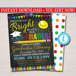 Kindergarten Graduation Invitation, Preschool Pre K Graduation Ceremony Invite, Future is so Bright we have to wear Shades EDITABLE TEMPLATE