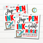 You Just Happen To Be An Incredible Nurse Gift Tag, Doctor Nurse Appreciation Week Gift Tag, Printable Health Care Gift, EDITABLE TEMPLATE