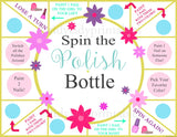 Spin the Nail Polish Bottle Printable Game, Girls Party Game, Spa Party, Beauty Party, Sleepover Game, Nail Painting Game - INSTANT DOWNLOAD