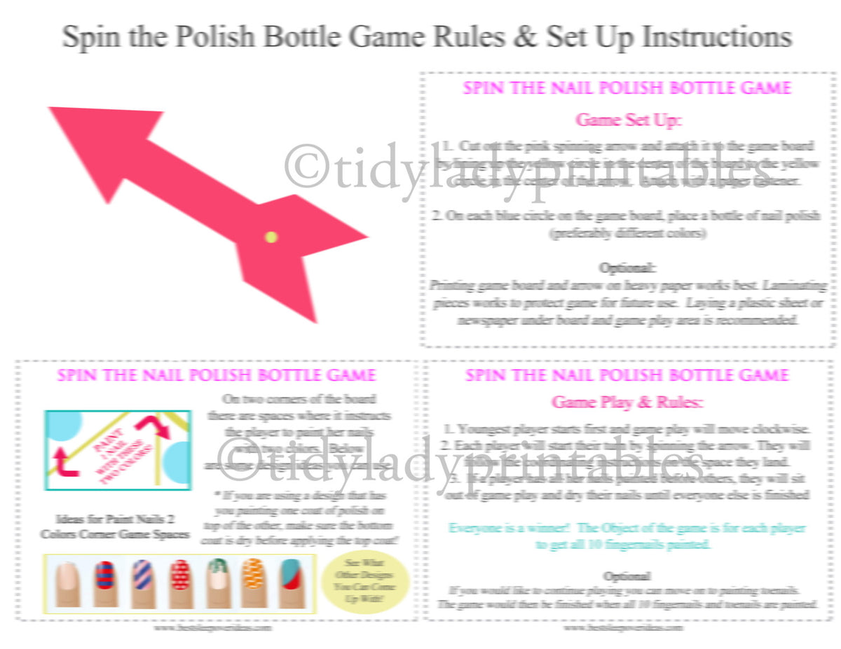 Spin the Bottle Nail Polish Game! - MomOf6