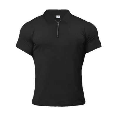 Slim Fit Zipper Polo Shirt