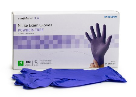 McKesson Confiderm 3.0 Nitrile Gloves 100 Count