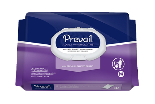 Prevail Personal Wipes 96 Count with Aloe