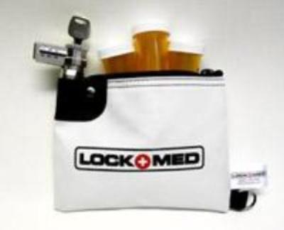 LOCKMED LOCKBAG- ON SALE- purse size with combination lock and key override-