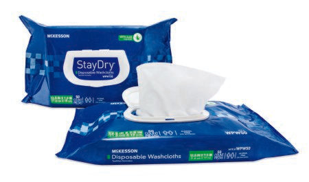 McKesson StayDry SoftPak Personal Wipes with Aloe and E