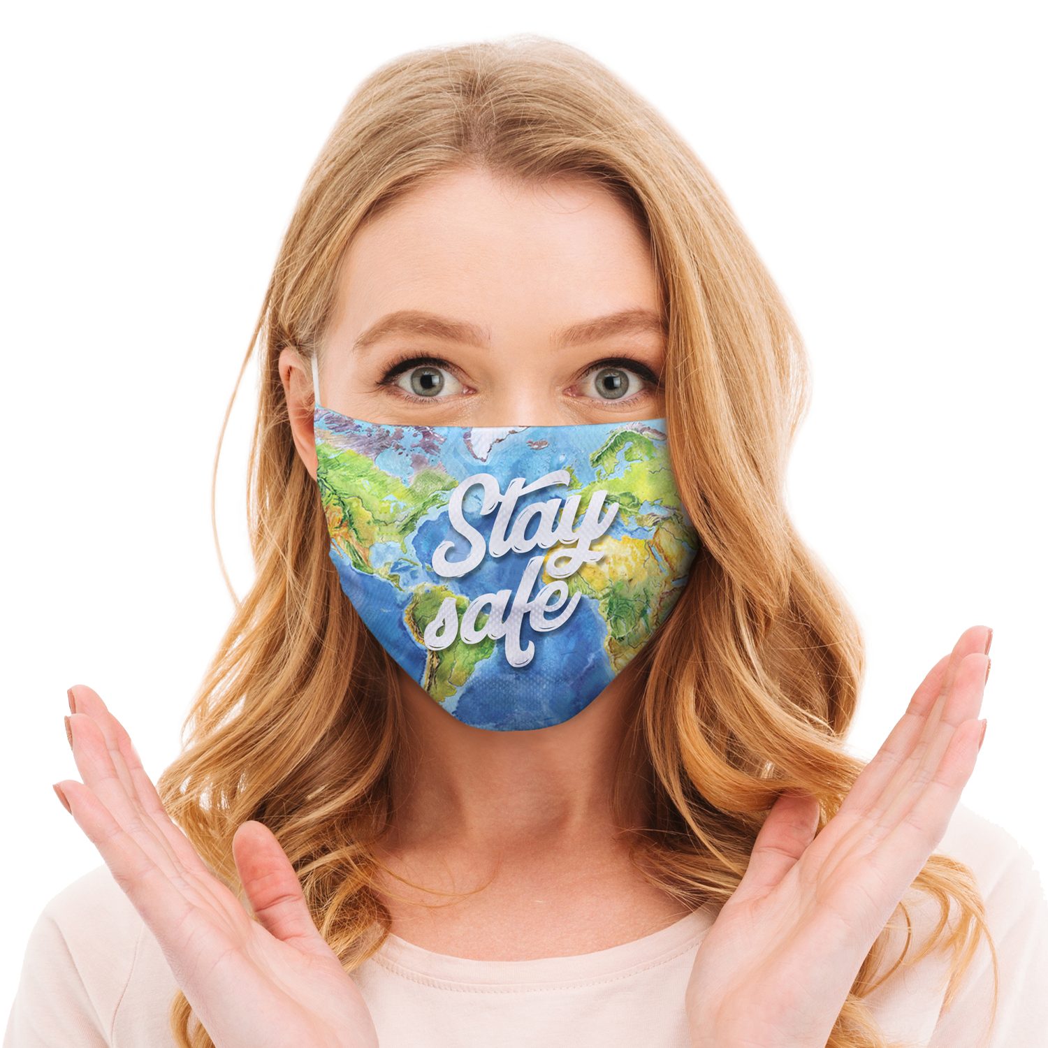 Pre-Printed Star Face Mask Sample