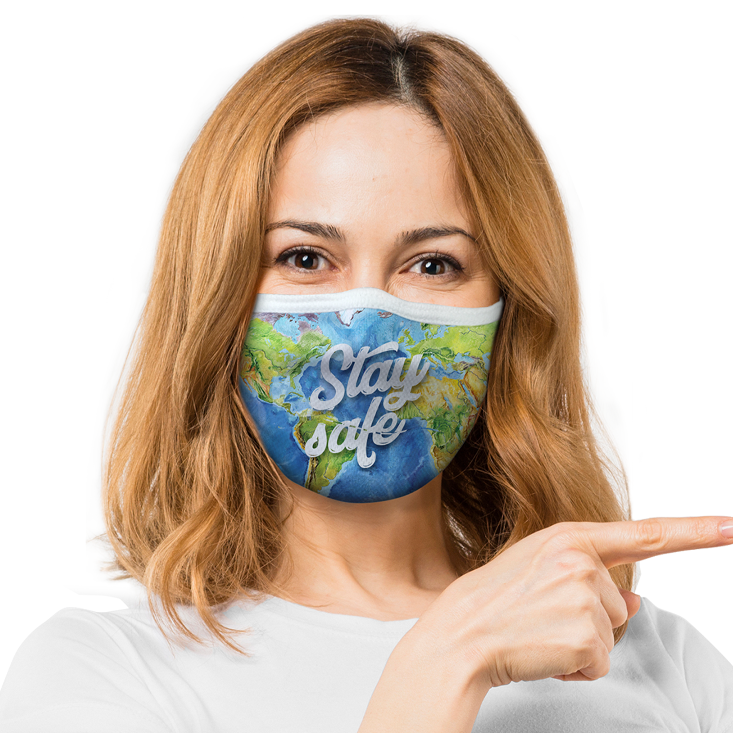 Pre-Printed Basic Face Mask Sample