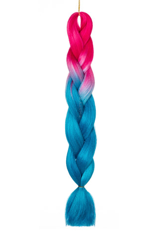 Three-Tone Blue/Purple/Pink Hair