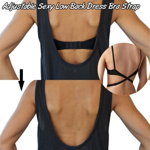 Adjustable Sexy Low Back Dress Bra Strap