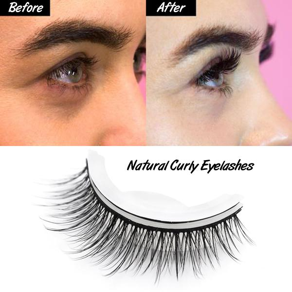 Reusable Self-Adhesive Natural Curly Eyelashes