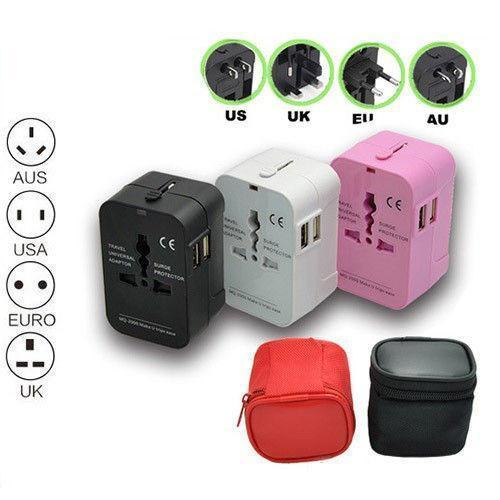 Worldwide Travel Adapter with Dual USB - Living Chic