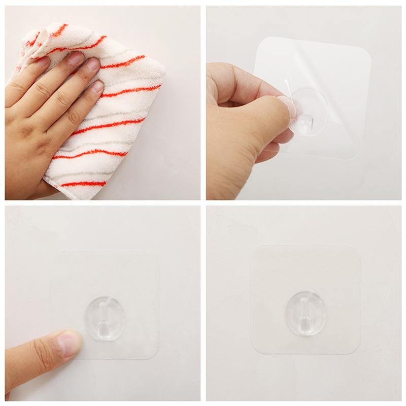 Self Adhesive Wall Hooks (4PCs)