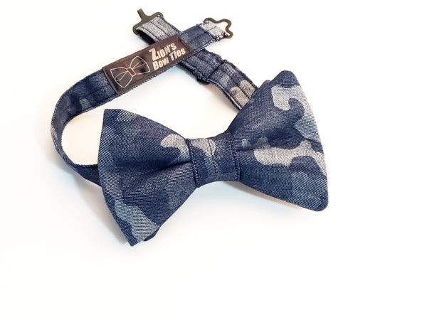 Blue Camouflage Knight Butterfly Bow Tie
