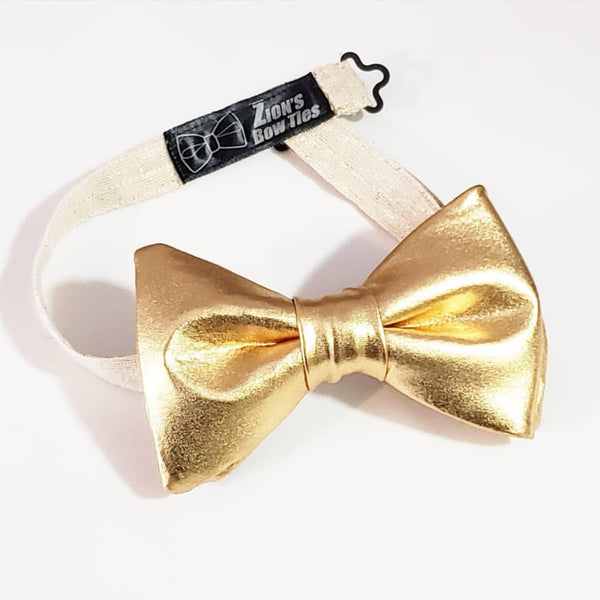 King's Gold Pretied Butterfly Bow Tie