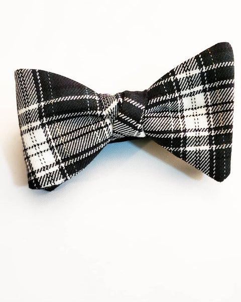 King's Plaid Bow Tie