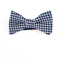 """The Professional"" Black/Gray Houndstooth Bow Tie"