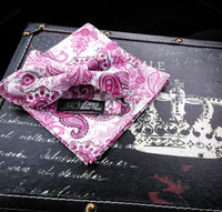 Pink-Pink-Paisley Pocket Square