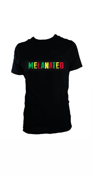 MELANATED black tshirt