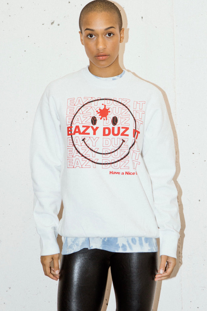 EAZY DUZ IT SMILEY | PREMIUM CREWNECK