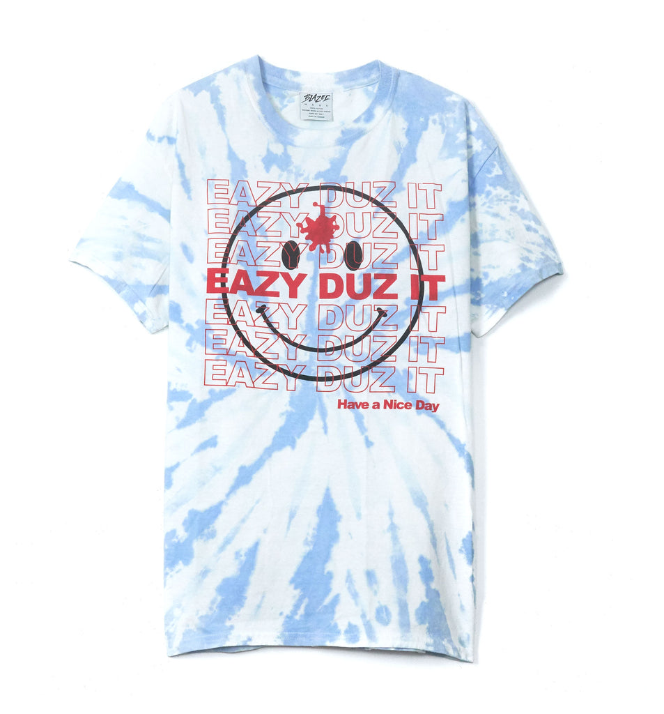 EAZY DUZ IT SMILEY | TIE DYE TEE