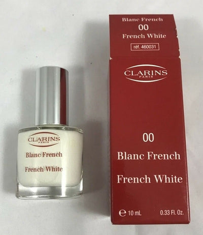 Clarins French Blanc (French White) Glossy Nail Colour #00 10mL