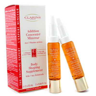 Clarins Body Shaping Supplement 2x25ml Wtih 7 Key Botanicals