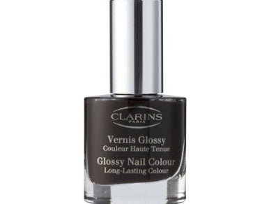 CLARINS Deep Plum Dark Burgundy Vernis Glossy Nail Colour 06 Long-Lasting Nail Polish