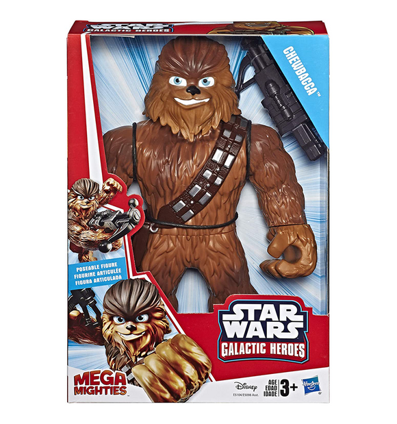 """Star Wars Galactic Heroes Mega Mighties Chewbacca 10/"""" Action Figure with Toys 3"""
