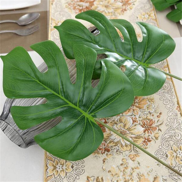 Large 1 Piece Artificial Monstera palm Leaf
