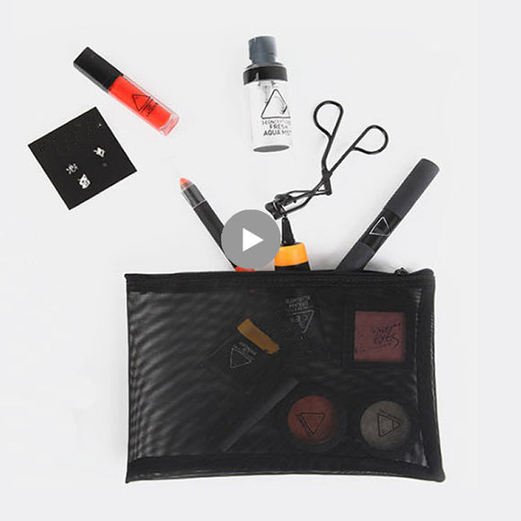 Transparent Small Mesh Makeup Bag