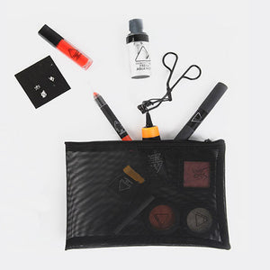 Transparent Small Mesh Cosmetic Travel Bag