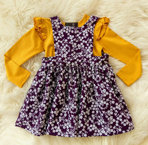 Plum Pinny Dress