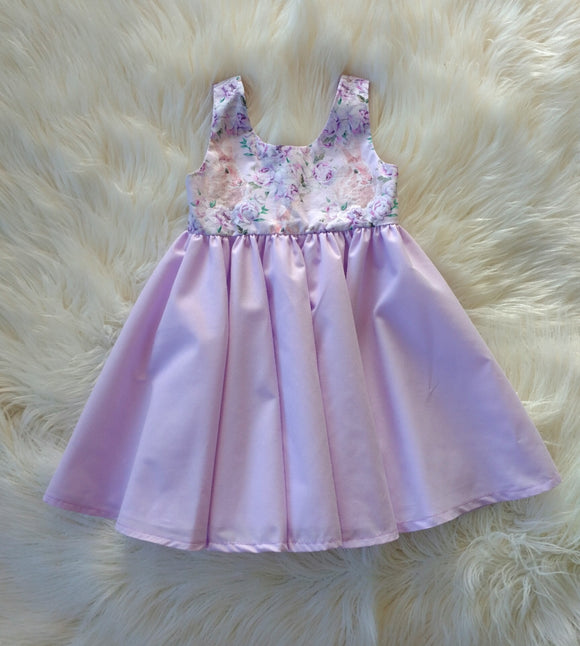 Purple Bunny Tea Party Dress