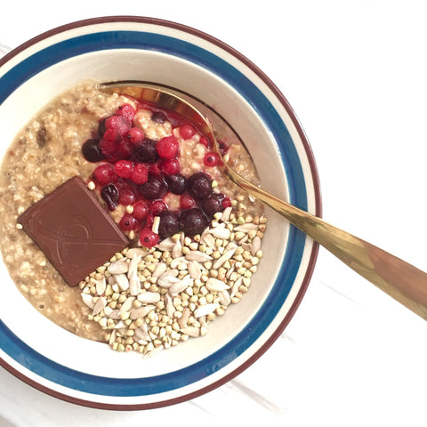 Gourmet oatmeal, dairy-free, refined sugar-free, instant real whole food, healthy breakfast, high fiber, vegan kl, easy healthy recipes, gobasixfood.com