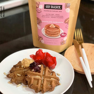 CHOCOLATE HAZELNUT Flourless Pancake Mix : Family Pack 350g