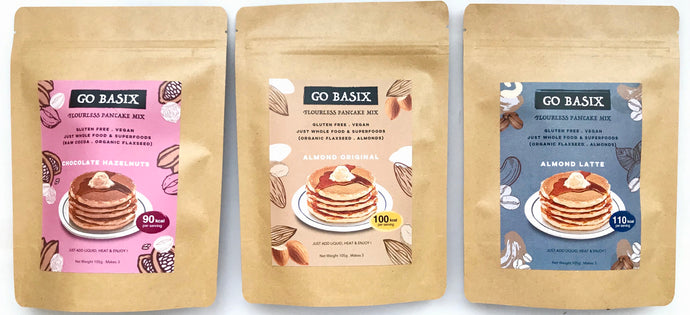 TRIAL VARIETY FLOURLESS PANCAKE MIX: Pack-of-3
