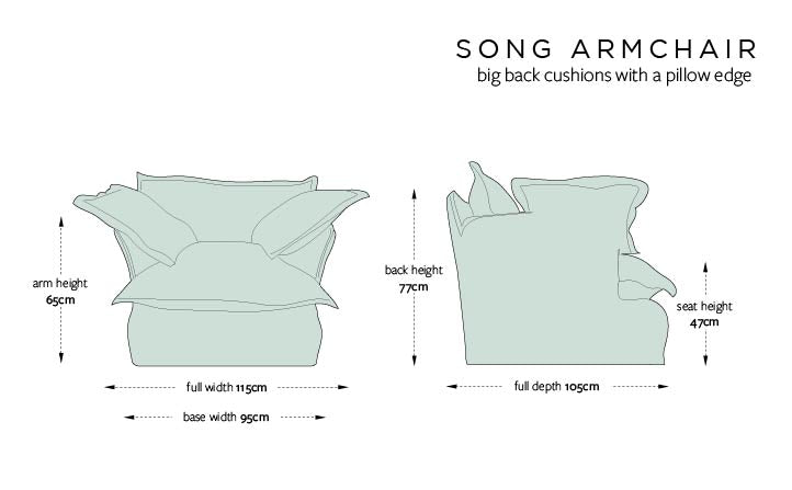 Song Arm Chair Dimensions
