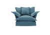 Long Pile Velvet Song Love Seat Sofa