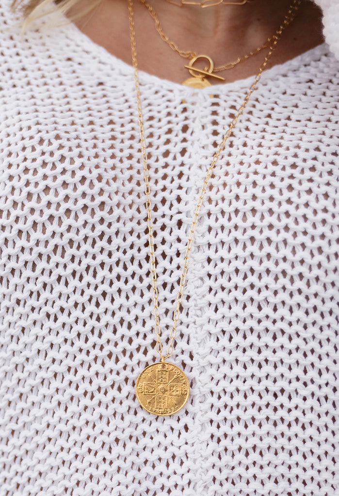 Britts Coin Necklace 30""