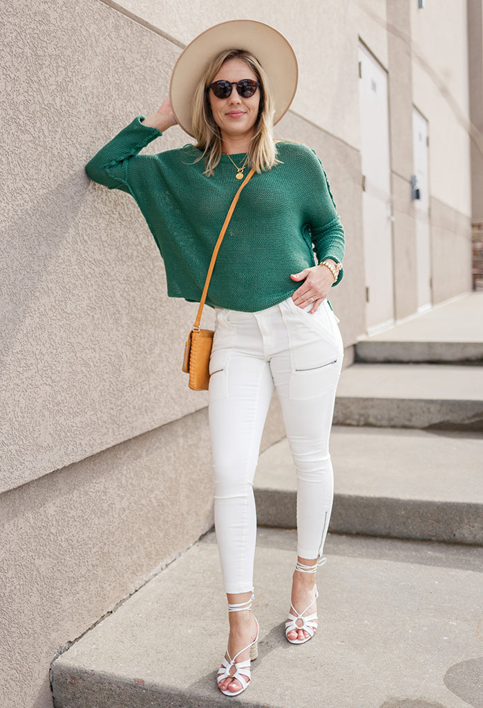 Charlie Spring Crew Neck Sweater, Green