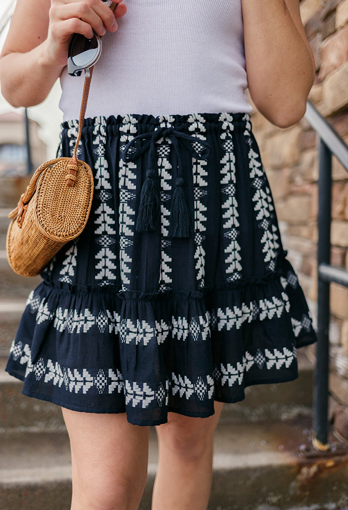 Rachel Embroidered Skirt